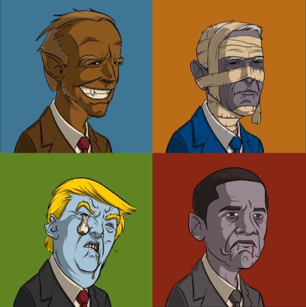 Undead Presidents by Krappy Art
